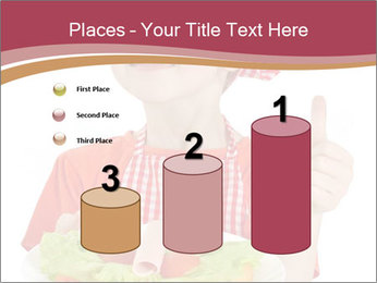 Little girl holding plate with ham PowerPoint Templates - Slide 65