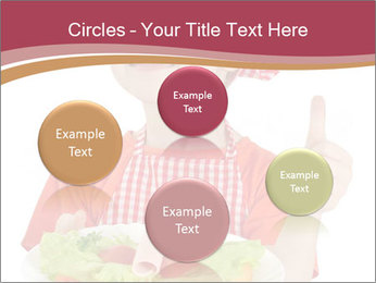 Little girl holding plate with ham PowerPoint Templates - Slide 77