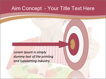 Little girl holding plate with ham PowerPoint Templates - Slide 83