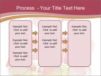 Little girl holding plate with ham PowerPoint Templates - Slide 86