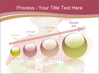 Little girl holding plate with ham PowerPoint Templates - Slide 87