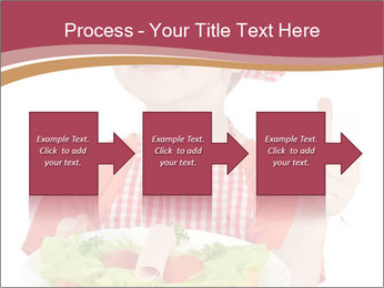 Little girl holding plate with ham PowerPoint Templates - Slide 88