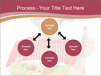 Little girl holding plate with ham PowerPoint Templates - Slide 91