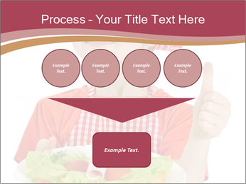 Little girl holding plate with ham PowerPoint Templates - Slide 93
