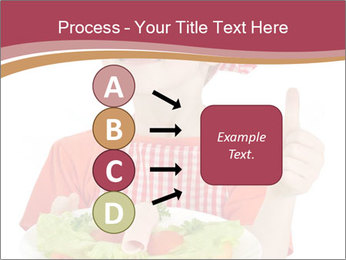 Little girl holding plate with ham PowerPoint Templates - Slide 94
