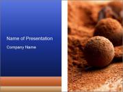 Chocolate truffle PowerPoint Templates