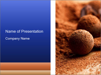 Chocolate truffle PowerPoint Template - Slide 1
