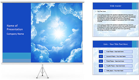 The divine sky PowerPoint Template