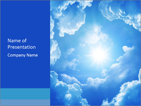 The divine sky PowerPoint Templates