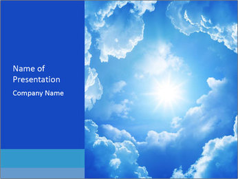 The divine sky PowerPoint Template - Slide 1