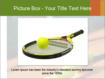 Tennis ball, vintage rackets PowerPoint Templates - Slide 15