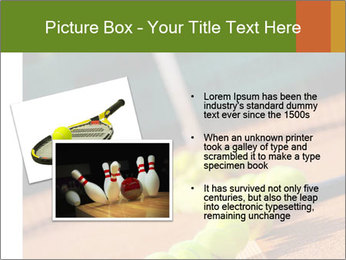 Tennis ball, vintage rackets PowerPoint Templates - Slide 20