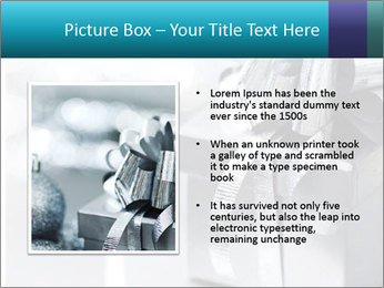 Silver christmas gift PowerPoint Template - Slide 13