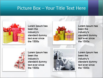 Silver christmas gift PowerPoint Template - Slide 14