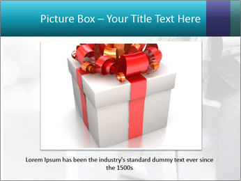 Silver christmas gift PowerPoint Template - Slide 15