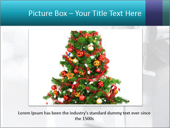 Silver christmas gift PowerPoint Template - Slide 16