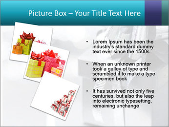 Silver christmas gift PowerPoint Template - Slide 17