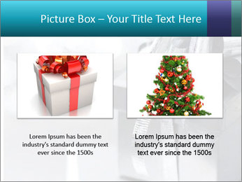 Silver christmas gift PowerPoint Template - Slide 18