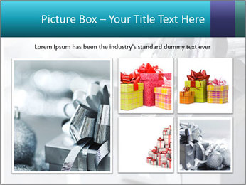 Silver christmas gift PowerPoint Template - Slide 19