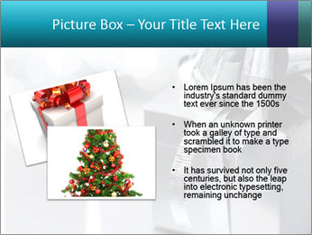 Silver christmas gift PowerPoint Template - Slide 20