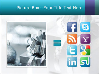 Silver christmas gift PowerPoint Template - Slide 21