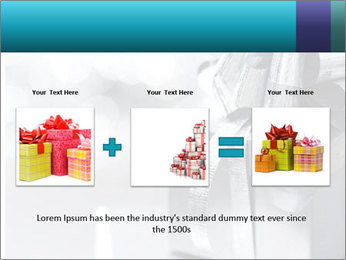 Silver christmas gift PowerPoint Template - Slide 22