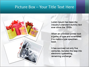 Silver christmas gift PowerPoint Template - Slide 23