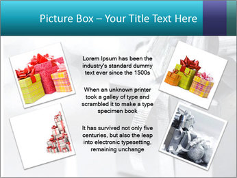 Silver christmas gift PowerPoint Template - Slide 24