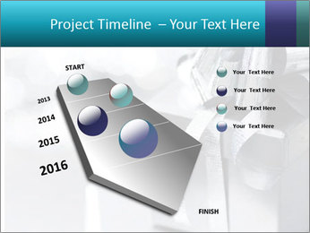 Silver christmas gift PowerPoint Template - Slide 26