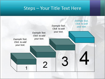 Silver christmas gift PowerPoint Template - Slide 64