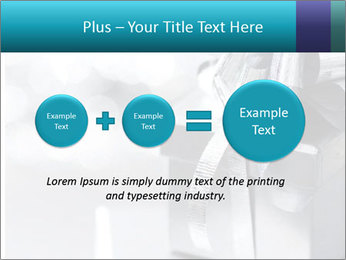 Silver christmas gift PowerPoint Template - Slide 75