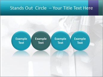 Silver christmas gift PowerPoint Template - Slide 76