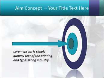 Silver christmas gift PowerPoint Template - Slide 83