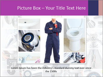 Mature plumber fixing a sink at kitchen PowerPoint Template - Slide 15
