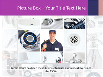 Mature plumber fixing a sink at kitchen PowerPoint Template - Slide 16