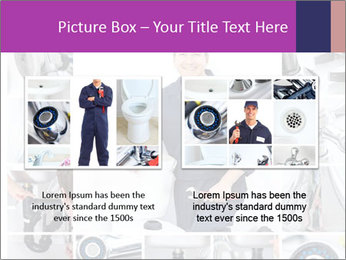 Mature plumber fixing a sink at kitchen PowerPoint Template - Slide 18