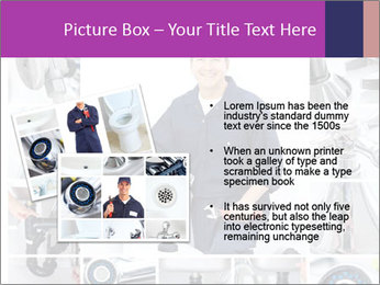 Mature plumber fixing a sink at kitchen PowerPoint Template - Slide 20