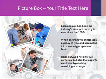 Mature plumber fixing a sink at kitchen PowerPoint Template - Slide 23
