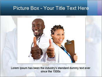 Portrait of a male surgeon, colleagues PowerPoint Template - Slide 16