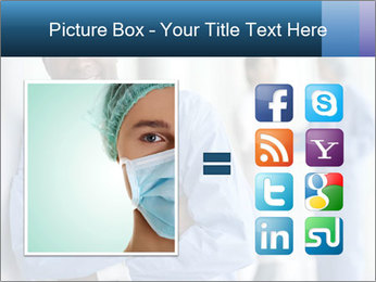 Portrait of a male surgeon, colleagues PowerPoint Template - Slide 21