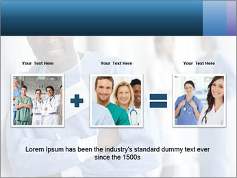 Portrait of a male surgeon, colleagues PowerPoint Templates - Slide 22