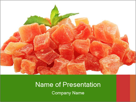 Dried papaya PowerPoint Templates