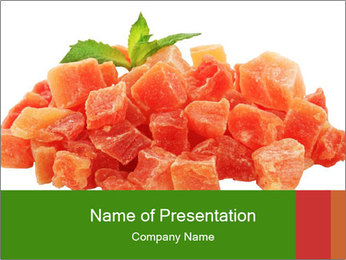 Dried papaya PowerPoint Template - Slide 1