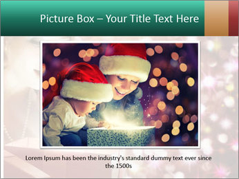 Christmas or New Year Gift. Surprised Woman PowerPoint Template - Slide 15