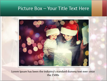 Christmas or New Year Gift. Surprised Woman PowerPoint Template - Slide 16
