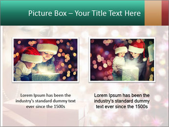 Christmas or New Year Gift. Surprised Woman PowerPoint Template - Slide 18