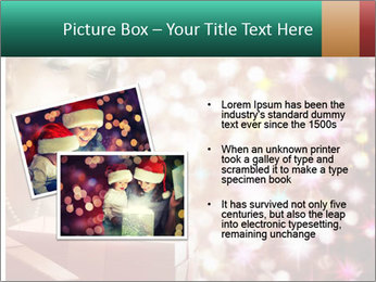 Christmas or New Year Gift. Surprised Woman PowerPoint Template - Slide 20
