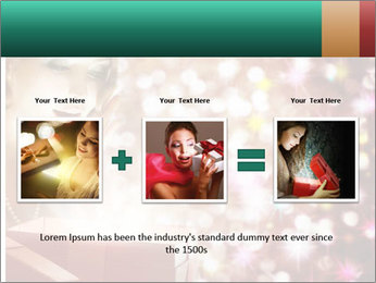 Christmas or New Year Gift. Surprised Woman PowerPoint Template - Slide 22