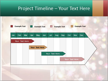 Christmas or New Year Gift. Surprised Woman PowerPoint Template - Slide 25