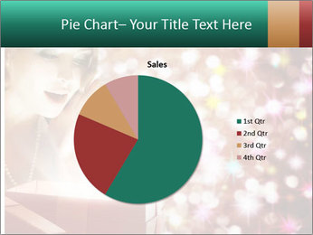 Christmas or New Year Gift. Surprised Woman PowerPoint Template - Slide 36